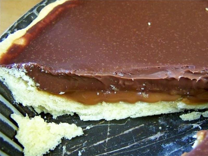 Tarte façon caramel beurre salé & ganache chocolat